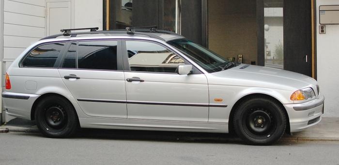 BMW E46 318i 3シリーズ マットブラック スチールホイール
