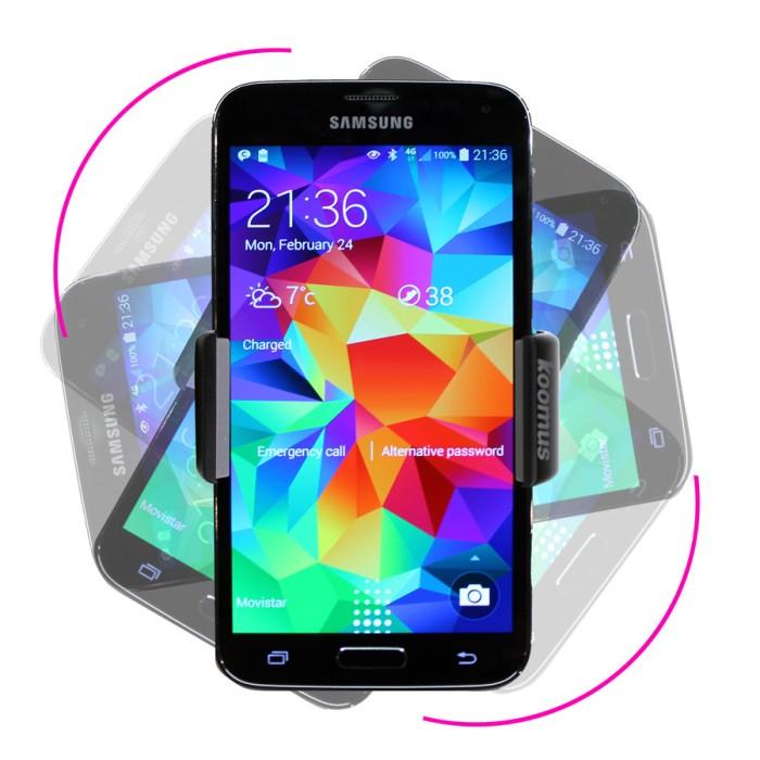 koomus スマートフォン ホルダー スタンド クリップ エアコン ベント iphone